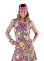 70's Paisley Go Go Dress