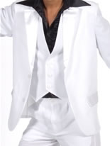 Adult 70's White Waistcoat