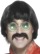 70's Wig Black