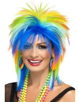 80s Rainbow Punk Wig [41406]