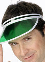 80's Poker Visor Green [31706]