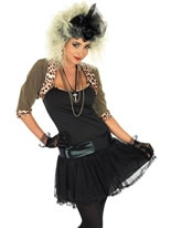 80's Pop Star Costume (Black)