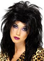 80's Popstar Wig Black