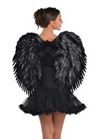 Adult Deluxe Dark Feather Angel Wings [843978-55]