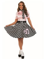 Adult 50s Rock n Roll Girl Costume [FS3627]