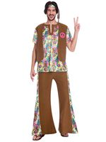 Adult 60s Psychedelic Hippy Costume [9906996]