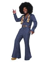 Adult 70s Denim Jumpsuit Costume [5120-080]