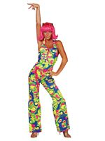Adult 70s Neon Catsuit Costume