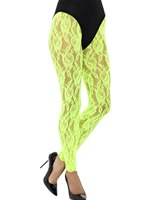Adult 80s Neon Green Lace Leggings