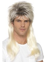 Adult 80s Rock Mullet Wig