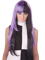 Adult A La Mod Black/Purple Wig [70770]