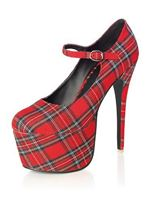 Adult Academy Red Tartan Stiletto Shoes