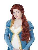 Adult Auburn Medieval Beauty Wig