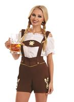 Adult Bavarian Lederhosen Girl Costume