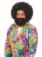 Adult Black Afro & Beard Set [FS3859]