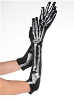 Adult Black and Bone Long Gloves