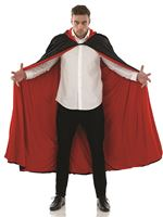 Adult Black and Red Velour Cape