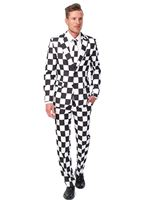 Adult Black and White Checked Suitmeister Suit