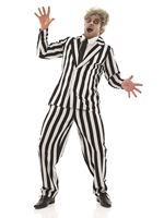 Adult Black and White Suit Costume