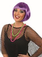 Adult Hot Purple Bob Wig