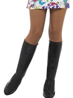 Adult Black GoGo Boot Covers [43066]