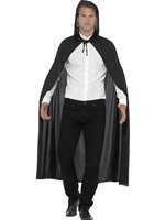 Adult Black Hooded Vampire Cape