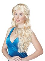 Adult Blonde Medieval Beauty Wig