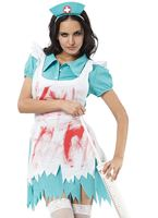 Adult Blood Splattered Nurse Costume