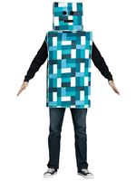 Adult Blue Pixel Robot Costume