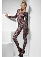Adult Brown Cheetah Print Bodysuit [26811]