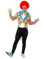 Adult Checked Clown Tailcoat [47368]