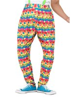 Adult Clashing Clown Trousers [47190]