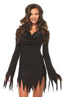 Adult Cowl Neck Tattered Dress