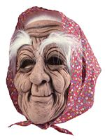Adult Old Woman Mask