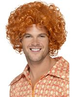 Adult Curly Afro Ginger Wig