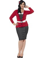 Adult Curves 50's pin Up Costume