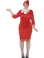 Adult Curves Air Hostess Costume