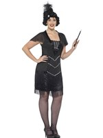 Adult Curves Flapper Costume