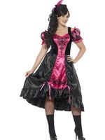 Adult Plus Size Curves Sassy Saloon Costume