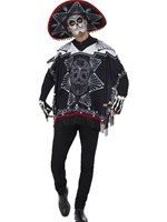 Adult Day of the Dead Bandit Costume [41587]
