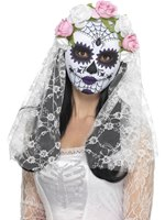 Adult Day of the Dead Bride Mask [44899]