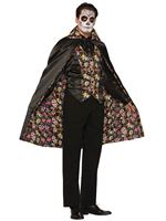 Adult Day of the Dead Cape [74686]