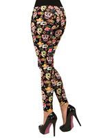 Adult Day of the Dead Leggings