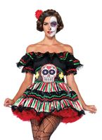 Adult Day of the Dead Doll Costume [85293]