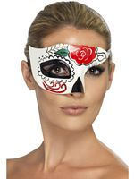 Adult Day of the Dead Half Eye Mask
