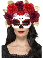 Adult Day of the Dead Rose Eyemask