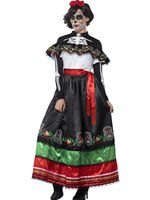 Adult Day of the Dead Senorita Costume [44937]