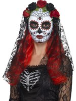 Adult Day of the Dead Senorita Mask