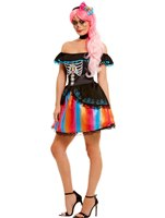 Adult Day of the Dead Senorita Ombre Costume