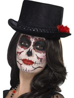 Adult Day of the Dead Top Hat [44638]